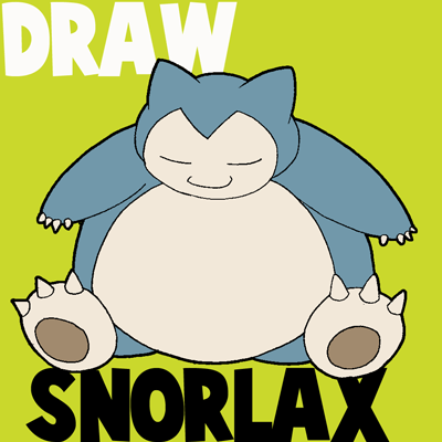 how to draw snorlax from pokemon with easy step by step drawing