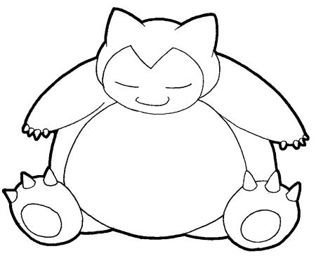 Step 7 : Drawing Snorlax in Easy Steps Tutorial for Kids
