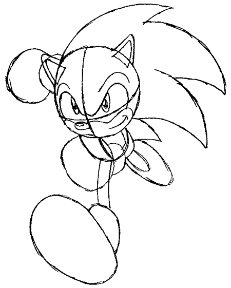 How To Draw Sonic The Hedgehog Running Drawing Lesson How To