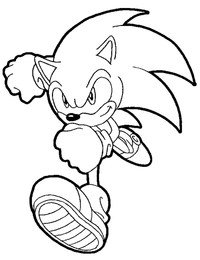 Line Drawing Hedgehog : How to draw sonic the hedgehog running drawing lesson