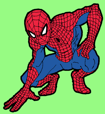 Step 9 : Drawing Spiderman step by step drawing lesson