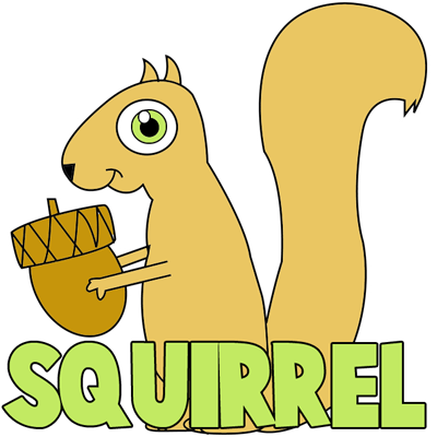 How to Draw Cartoon Squirrels in Simple Steps Drawing Tutorial