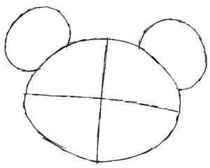 Step 1 : Drawing Teddiursa from Pokemon in Easy Steps Tutorial