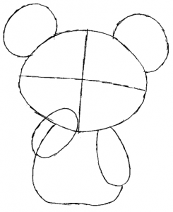 Step 2 : Drawing Teddiursa from Pokemon in Easy Steps Tutorial