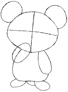 Step 3 : Drawing Teddiursa from Pokemon in Easy Steps Tutorial