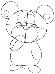 Step 4 : Drawing Teddiursa from Pokemon in Easy Steps Tutorial