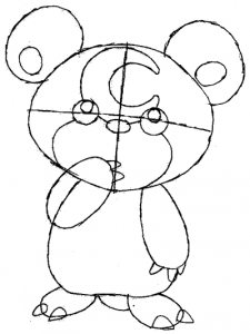 Step 5 : Drawing Teddiursa from Pokemon in Easy Steps Tutorial