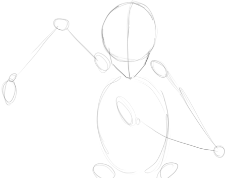 Step 1 : Drawing Ichigo Kurosaki in Simple Steps Tutorial