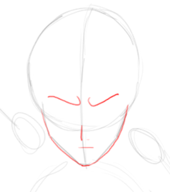Step 2 : Drawing Ichigo Kurosaki in Simple Steps Tutorial