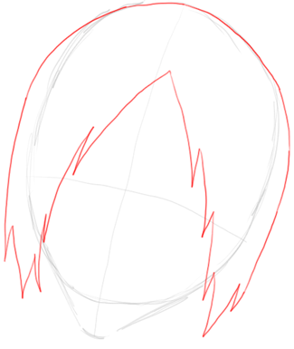 Step 2 Drawing Uryu Ishida from Bleach in Easy Steps Tutorial