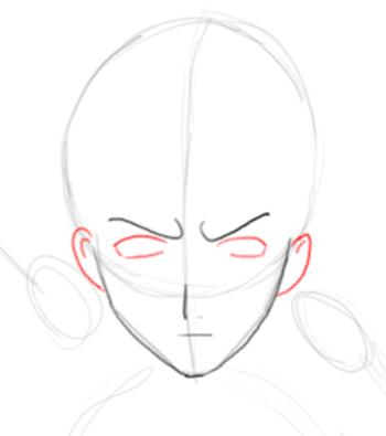 Step 3 : Drawing Ichigo Kurosaki in Simple Steps Tutorial