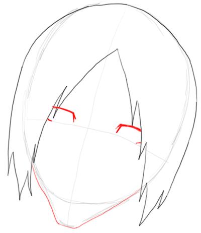 Step 3 Drawing Uryu Ishida from Bleach in Easy Steps Tutorial
