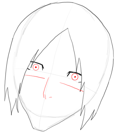 Step 4 Drawing Uryu Ishida from Bleach in Easy Steps Tutorial