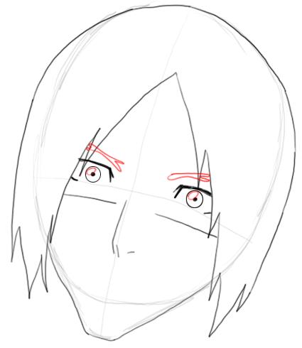 Step 5 Drawing Uryu Ishida from Bleach in Easy Steps Tutorial