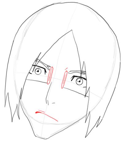 Step 6 Drawing Uryu Ishida from Bleach in Easy Steps Tutorial