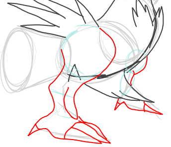 Step 10 : Drawing Reshiram in Easy Step by Step Tutorial