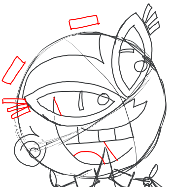 Step 10 : Drawing Tootsie from Fairly Odd Parents Tutorial