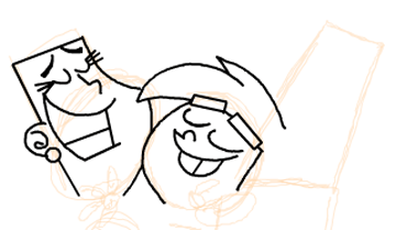 Step 10 : Drawing Timmy Turners Parents Step by Step Drawing Tutorial