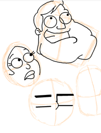 Step 10 : Drawing American Dad Family Step by Step Lesson