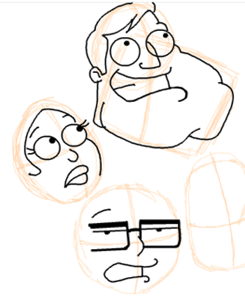 Step 11 : Drawing American Dad Family Step by Step Lesson