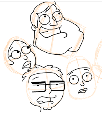 Step 14 : Drawing American Dad Family Step by Step Lesson