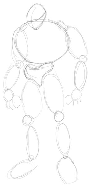 Step 1 : Drawing Ganondorf Step by Step Tutorial