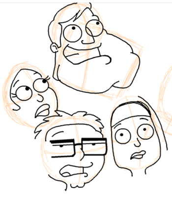 Step 15 : Drawing American Dad Family Step by Step Lesson