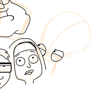 Step 16 : Drawing American Dad Family Step by Step Lesson