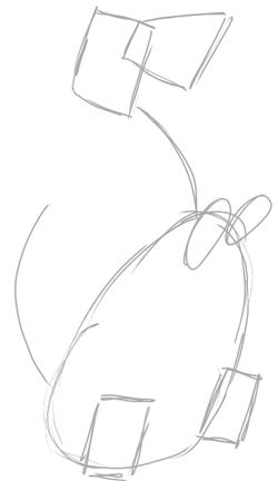 Step 1 : Drawing Dino Dinosaur from the FLinstones Tutorial