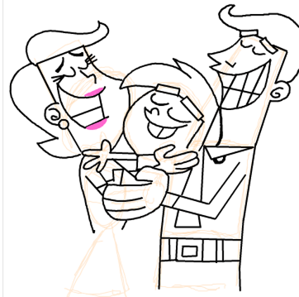 Step 19 : Drawing Timmy Turners Parents Step by Step Drawing Tutorial