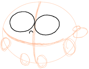 Step 2 : Drawing Poof the Baby Fairy Step by Step Drawing Tutorial