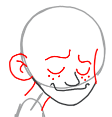 Step 3 : Drawing Spud from American Dragon Jake Long Step by Step Lesson