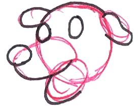 Step 3 : Drawing Martha the Cartoon Dog Step by Step Tutorial