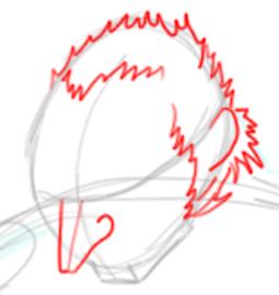 Step 3 : Drawing Ganondorf Step by Step Tutorial