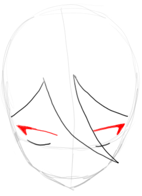 Step 3 : Drawing Rukia Kuchiki in easy Steps Lesson