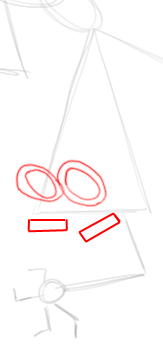 Step 3 : Drawing Mr. Crocker Teacher Step by Step Lesson