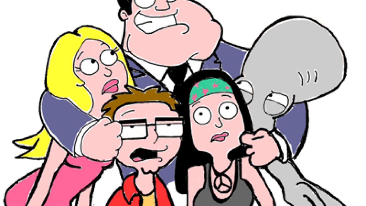 American Dad how to draw american dad characters stan francine haley