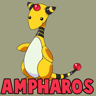 How to Draw Ampharos from Pokemon in Easy Steps Drawing Tutorial
