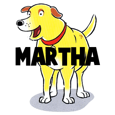 Drawing Martha the Cartoon Dog Step by Step Tutorial