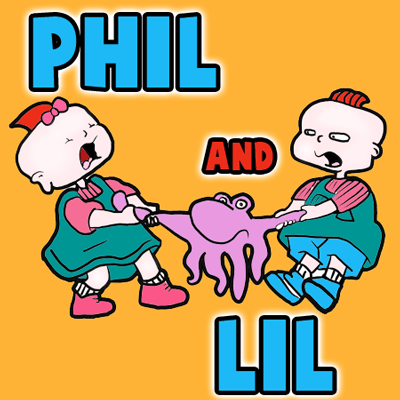 How to Draw Phil and Lil The Twins Boy and Girl from Rugrats
