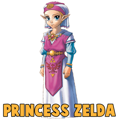 How to Draw Young Princess Zelda with Step by Step Drawing Lesson