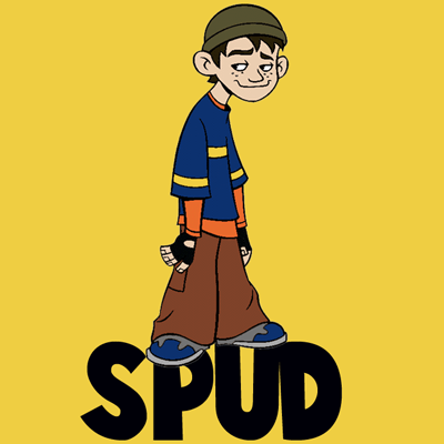 How to Draw Spud or Arthur Spudinski from American Dragon Jake Long