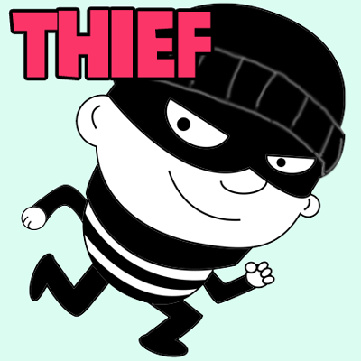 How to Draw Cartoon Thief Prowling in Easy Step by Step Drawing Lesson