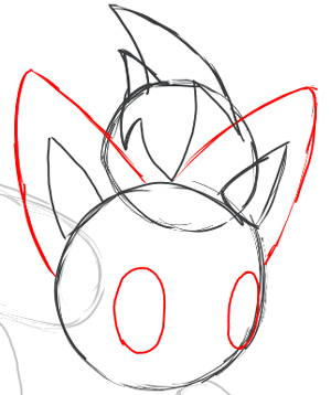 Step 4 : Drawing Zorua in Simple Steps Lesson for Kids