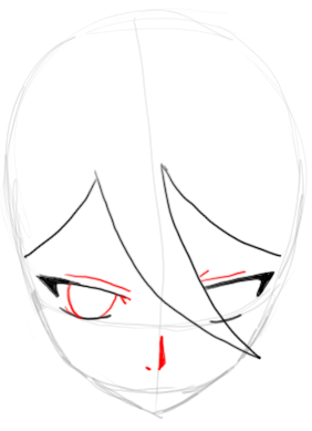 Step 4 : Drawing Rukia Kuchiki in easy Steps Lesson