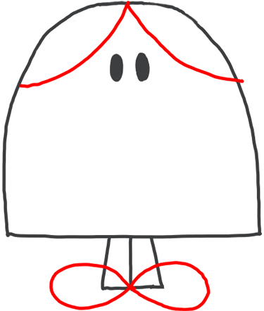 Step 4 : Drawing Little Miss Chatterbox from Mister Men Tutorial