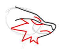 Step 5 : Drawing Reshiram in Easy Step by Step Tutorial