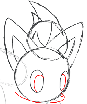 Step 5 : Drawing Zorua in Simple Steps Lesson for Kids