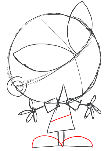 Step 5 : Drawing Tootsie from Fairly Odd Parents Tutorial