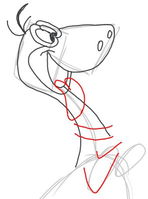 Step 5 : Drawing Dino Dinosaur from the FLinstones Tutorial